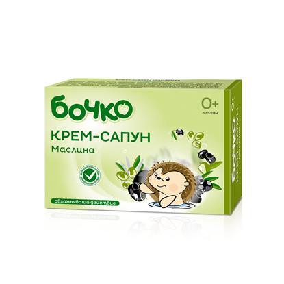Снимка на БОЧКО КРЕМ-САПУН МАСЛИНА 75 ГР.