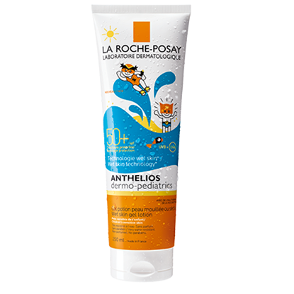 Снимка на LA ROCHE-POSAY / ЛА РОШ ПОЗЕ ANTHELIOS DERMO-PEDIATRICS WET SKIN SPF 50+ ГЕЛ 250 МЛ.